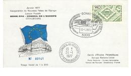 Inauguration Du Palais De L'Europe  STRASBOURG24-01-1977 - Europa-CEPT