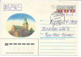 13 S ATM Registered Domestic Commercial Solo Cover / Klüssendorf - 9 February 1995 Riga-50 - Latvia