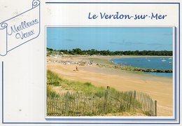 Dept 33,Gironde,Cpm Le Verdon Sur Mer,Meilleurs Voeux  (Pas Courante,Petite Photo Véritable) - Other Municipalities