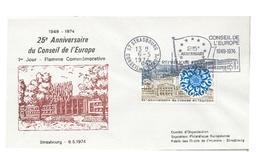 25 Anniversaire Du Conseil De L'Europe  STRASBOURG 6 Mai 1974 - Europa-CEPT