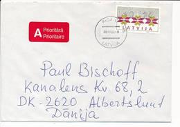 16 S ATM Solo Cover / Klüssendorf - 26 November 1996 Riga-47 To Denmark - Latvia