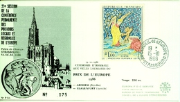 21° Session De La Conférence Des Pouvoirs Locaux  STRASBOURG –CONSEIL DE L'EUROPE  15  Octobre 1966 - Europa-CEPT