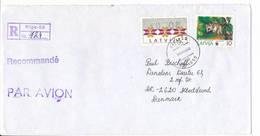 8 S ATM Registered Uprated Cover / Klüssendorf - 25 May 1995 Riga-50 To Denmark - Latvia