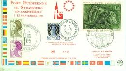 Foire Européenne De Strasbourg  Conseil De L'Europe -9 Septembre 1966 - Europa-CEPT