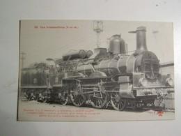 F2   LES LOCOMOTIVES Machine  COMPOUND N° C 2     1887  Caracteristiques Au Dos - Treinen