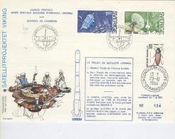 Projet De Satellite VIKING  Liaison Postale Base Spatiale Suédoise D'Esrange-Kiruna  Conseil De L'Europe -13 Octobre 198 - Europa-CEPT