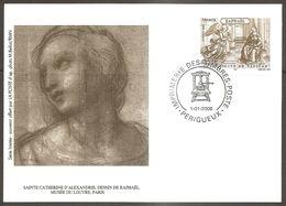France Frankreich 2005 / 2006 Raphael Vatican Sainte Catherine D'Alexandre Louvre Perigueux 1.1.2006 - Entiers Postaux