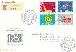 """R FDC  """"Werbepostmarken""""          1961 - Suisse"""
