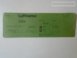ZA101.14   Airplane - LUFTHANSA Airline  - Boarding Pass MA521 - Boarding Passes