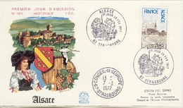 Alsace 1° Jour  Conseil De L'Europe  7  Mars 1977 - Europa-CEPT