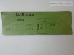 ZA101.15   Airplane - LUFTHANSA Airline  - Boarding Pass MA521 - Boarding Passes