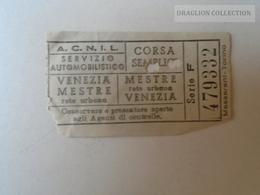 ZA101.16 VENEZIA - ACNIL Servizio Automobilistico VENEZIA- MESTRE -  CORSA SEMPLICE Ca 1960's - Tram