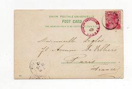 !!! SAINTE-HELENE, CPA DE DEADWOOD DE 1902 POUR PARIS, CACHET DE CENSURE PRISONNIER DE GUERRE (GUERRE DES BOERS) - Sainte-Hélène