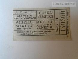 ZA101.17 VENEZIA - ACNIL Servizio Automobilistico VENEZIA- MESTRE -  CORSA SEMPLICE Ca 1960's - Tram
