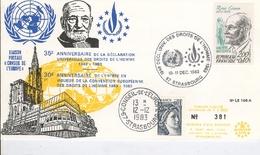 35° Anniversaire De La Déclaration Des Droits De L'homme  STRASBOURG  10-11 Décembre  1983 - Europa-CEPT