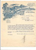 FACTURE  STE FRANCAISE DE BAGUETTES Pour Encadrement Et Tentures - Montreuil  S/Bois Et Fontenay-Tresigny - 1932 - - France