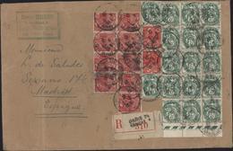 Lettre Recommandée YT 111 Blanc N°22 Bloc De 15 + 2 + Bande 5 Au Dos + N°272 Rouge X 11 Bloc De 9 + 2 Rouge Différents - Marcophilie (Lettres)