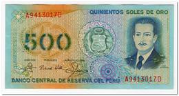 PERU,500 SOLES DE ORO,1982,P.125A,XF,FEW PINHOLES - Pérou