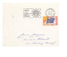 Enveloppe -Année Européenne De La Nature  Strasbourg Conseil De L'Europe  29 Septembre 1969 - 1966