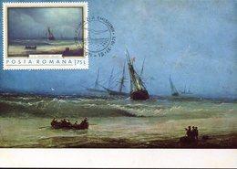39062 Romania,  Maximum 1971 - Painting Of Aivazovski,  Marina - Arts