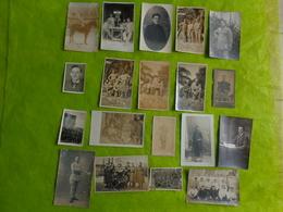 Lot De 19 Photos Militaires Toute Guerre Confondue - Guerre, Militaire