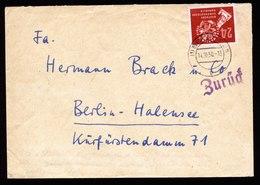 A5665) Berlin Währungsgegensatz Brief Westberlin 1950 In Ostberlin Verschickt - Briefe U. Dokumente