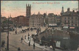 St Augustine's Bridge, Bristol, 1911 - Valentine's Postcard - Bristol