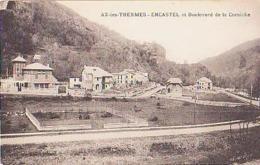 Ariège        375        AX Les Thermes.Encastel Et Le Boulevard De La Corniche - Ax Les Thermes