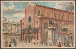Church Of St Giovanni E Paolo And Colleoni Monument, Venice, C.1905 - U/B Postcard - Venezia (Venice)