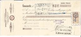 SEINE 75 - ROMAINVILLE -  LETTRE DE CHANGE - 1932 - DROUET & CORBIER - CREME FRANCORUSSE.. - CNEP PARIS / CNEP LIBOURNE - Letras De Cambio
