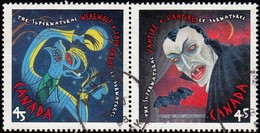 CANADA - Scott #1665-1666 Supernatural, Vampire / Used Stamp - 1952-.... Reign Of Elizabeth II