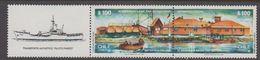 Chile 1987 Antarctica Base Arturo Prat 2v Se Tenant (+label)  ** Mnh (40977D) - Chile
