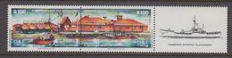 Chile 1987 Antarctica Base Arturo Prat 2v Se Tenant (+label)  ** Mnh (40977E) - Chili