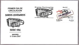 Periodico - Newspaper - Journal - LAS PROVINCIAS. SPD/FDC Madrid 2007 - Sellos