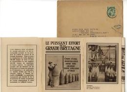 Ww1 - Guerre 14 - Tract - Propagande - Le Puisant Effort De La Grande Bretagne - Usine D'obus - Documents