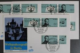 Deutschland (BRD), MiNr. 1537-1538, 6 Zd-Kombis, FDC - FDC: Enveloppes
