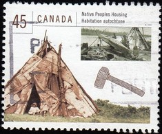 CANADA - Scott #1755a Native Peoples / Used Stamp - 1952-.... Reign Of Elizabeth II