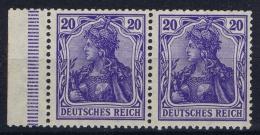 Germany:  Mi 87 Ia  ,Pair With Sheet Margin.Postfrisch/neuf Sans Charniere /MNH/** - Deutschland