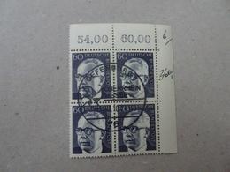 Bund Michel 690 Heizmann Viererblock Gestempelt Mit Gummi (6027) - BRD