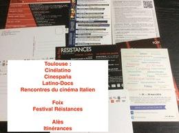 9 Cartes Postales : Festivals & Rencontres Cinématographiques (Alès-foix-Toulouse) - Non Classés