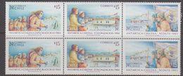 Chile 1984 Antarctica Strip 3v (pair) ** Mnh (40978A) - Chile