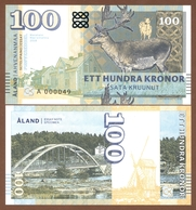 ALAND ISLANDS 100 Kronor 2018 UNC. Private Essay. Specimen. - Sonstige