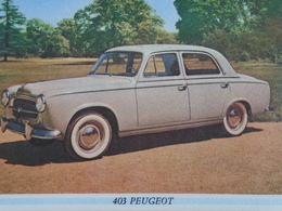 AUTOMOBILE - 403 PEUGEOT N° 5 - VINS PRIMIORS - Blotters