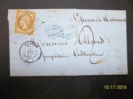 France: 1859 Folded Letter To (?) (#HJ2) - 1853-1860 Napoleon III