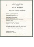Jozef BOGAERT 1897 1977 Wn/v Emma DE BROUWER  Sint-Laureins - Obituary Notices