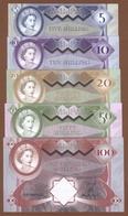 ARUBA ISLAND Set 5 Pcs 2018 Polymer UNC - Bankbiljetten