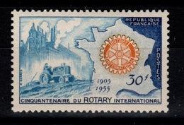 1955 YV 1009 N** Rotary Cote 3,30 Eur - France
