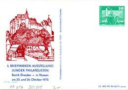 """DDR Privatganzs.PP016 D2/015""""BM-Ausstellung Junger Philatelisten"""" WSt.:1975 Bauwerke-10Pf.grün-Neptunbrunnen,ungebraucht - [6] République Démocratique"""