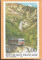 TRENO AJACCIO-VIZZAVONA - DA FRANCOBOLLO FRANCESE  1996 - Francobolli (rappresentazioni)