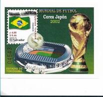 EL SALVADOR 2002, SOCCER WORLD CUP COREA JAPON, FOOTBALL, BRAZIL CHAMPIONSHIP, SCOTT 1565, MINT NH - El Salvador